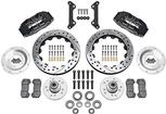 "1970-78 Dynapro 6 Big Front Brake Set with Drilled Rotors, Black Calipers for OE 11"" Disc Spindles"