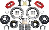 Wilwood Rear Disc Kit W4A 14.00 Mopar/Dana W/Snap Ring Brng 2.36 Offset - Red Calipers