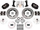 1964-74 Dynalite Pro Series Front Brake Set w/Drilled Rotors/Black Calipers for Disc/Drum Spindles
