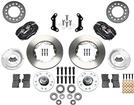 "1973-76 Mopar Dynalite Pro Front Disc Brake Set with Black Calipers and 11.00"" Plain Rotors"