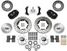 "1973-76 Mopar Dynalite Pro Front Disc Brake Set with Black Calipers and 11.00"" Drilled Rotors"