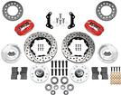"1973-76 Mopar Dynalite Pro Front Disc Brake Set with Red Calipers and 11.00"" Drilled Rotors"