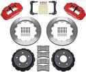 "2010-13 Camaro Wilwood 14"" Rear Brake Set - With Red 4 Piston Caliper & Slotted Rotors"