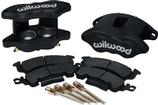 Wilwood D52 Black Anodized 2 Piston Front Caliper Kit - Various 1968-96 GM Models