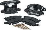Wilwood D52 Black Powdercoat 2 Piston Front Caliper Kit - Various 1968-91 GM Models