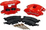 Wilwood D52 Red Powdercoat 2 Piston Front Caliper Kit - Various 1968-95 GM Models
