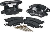 1969-96 FRONT CALIPER KIT BLACK ANODIZED