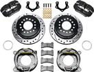 Forged Dynapro Low-Profile Rear Parking Brake Set - 8*3/4 With 2.5 Axle Offset - Drilled Rotors