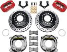 Forged Dynapro Low-Profile Rear Parking Brake Set - 8*3/4 With 2.5 Axle Offset - Drilled/Slotted