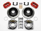 "Wilwood Dynapro 11"" Rear Disc Brake Set With Park Brake & Red Calipers - 9"" Big Ford New Style"