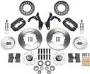 "1955-57 Chevrolet Wilwood Pro Series Front Brake Set with Black Anodized Caliper & 11"" Plain Rotors"