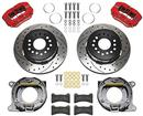 "1959-64 Chev F/S Wilwood DynaPRo Low-PRofile Rear Parking Brake Kit (Red Calipers) 11"" Drlled Rotors"