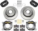 1959-64 Impala Wilwood Forged Dynalite Rear Parking Brake Set With Black Anodized Calipers