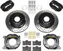 59-64 Impala Wilwood Forged Dynalite Rear Parking Brake Set W/Black Anodized Calipers-Drilled Rotors