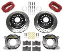 1959-64 Impala Wilwood Forged Dynalite Rear Parking Brake Set With Red Powdercoated Calipers