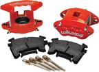 1978-92 GM Cars & Trucks Red Powder Coated D154 Single Piston Front Caliper Kit