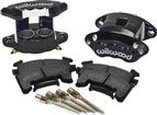 1982-92 F-Body Wilwood Replacement Dual Piston Front Caliper Kit Black Powdercoat