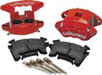 1978-92 GM Cars & Trucks Wilwood Red Powder Coated 2 Piston Front Caliper Kit
