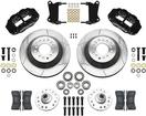 1962-74 CHEVY II/NOVA; 67-69 F-BODY - FORGED SUPERLITE 6R FRONT BRAKE SET W/ 12.88 SLOTTED ROTORS