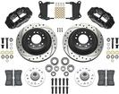 1962-74 CHEVY II/NOVA; 67-69 F-BODY - SUPERLITE 6R FRONT BRAKE SET - DRILLED ROTORS & BLACK CALIPERS
