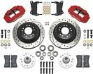 1962-74 Chevy II/Nova; 67-69 F-Body - Superlite 6R Front Brake Set - Drilled Rotors & Red Calipers