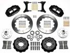 "1979-87 Buick Regal Superlite 6 Front Brake Set with 13"" Slotted Rotors and Black 6-Piston Calipers"