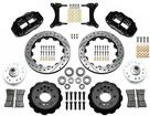 "1979-87 Buick Regal Superlite 6 Front Brake Set with 13"" Drilled Rotors and Black 6-Piston Calipers"