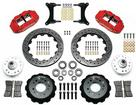 "1979-87 Buick Regal Superlite 6 Front Brake Set with 13"" Drilled Rotors and Red 6-Piston Calipers"