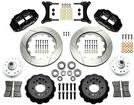 "1979-87 Buick Regal Superlite 6 Front Brake Set with 14"" Slotted Rotors and Black 6-Piston Calipers"