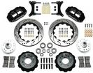 "1979-87 Buick Regal Superlite 6 Front Brake Set with 14"" Drilled Rotors and Black 6-Piston Calipers"