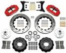 "1979-87 Buick Regal Superlite 6 Front Brake Set with 14"" Drilled Rotors and Red 6-Piston Calipers"