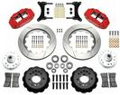 "1979-87 Buick Regal Superlite 6 Front Brake Set with 14"" Slotted Rotors and Red 6-Piston Calipers"