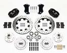 "1955-57 Chevy Wilwood 4-Piston Black Caliper With 12.19"" Drilled/Slotted Rotors Kit"