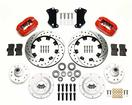 "1955-57 Chevy Wilwood 4-Piston Red Caliper With 12.19"" Drilled/Slotted Rotors Kit"