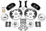 "1979-87 Buick Regal  Dynapro 6 Front Brake Set with 12.19"" Plain Rotors and Black 6-Piston Calipers"