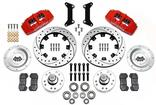 "1979-87 Regal  Dynapro 6 Front Brake Set with 12.19"" Drilled Rotors and Red 6-Piston Calipers"