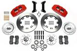 "1979-87 Buick Regal  Dynapro 6 Front Brake Set with 12.19"" Plain Rotors and Red 6-Piston Calipers"