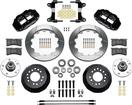 "1982-92 Camaro / Firebird - Superlite 13"" 6R Big  Front Brake Kit - Plain Rotors with Black Calipers"