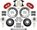 "1982-92 Camaro / Firebird - Superlite 13"" 6R Big  Front Brake Kit - Drilled Rotors w/ Red Calipers"