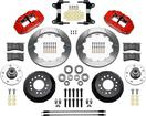 "1982-92 Camaro / Firebird - Superlite 13"" 6R Big  Front Brake Kit - Plain Rotors with Red Calipers"