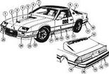 1982 CAMARO INDY 500 PACE CAR DOOR DECALS - PAIR