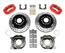 "1965-73 DynaPro Rear Brake Kit w/11"" D/S Rotors, Red Caliper for 2.36"" Offset Big Ford Bearing"