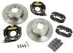 1955-02 FORGED DYNALITE PRO SERIES REAR BRAKES WITH PARKING BRAKE 12 PLAIN ROTORS/BLACK CALIPERS