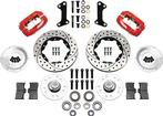 1964-74 Wilwood Dynalite Big Brake Front Hub Set With Red Calipers & Drilled Rotors