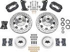 1964-74 Wilwood Dynalite Big Brake Front Hub Set With Black Caliper & Drilled Rotors