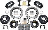 1962-81 13 Rear Brake W/12 Bolt Moser Rear Axle & Park Brake - Black Calipers & Srp Rotors