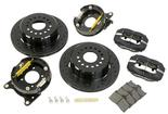 1962-81 FORGED DYNALITE PRO SERIES REAR BRAKES WITH PARKING BRAKE 12 DRILLED ROTORS/BLACK CALIPERS