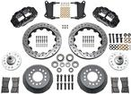 "1964-74 Superlite 6 Big Front Brakes Disc Spindles 13"" Drilled Rotors/Black Calipers"