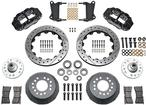 "1964-74 Superlite 6 Big Front Brakes Disc Spindles 14"" Drilled Rotors/Black Calipers"