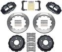 "1998-02 Superlite Rear Disc Brake Set with 13"" Slotted Rotors and  Black 4 Piston Calipers"
